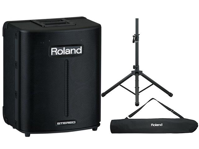 【専用スタンドセット】Roland(ローランド) / BA-330 -  乾電池対応オール・イン・ワンPAシステム -