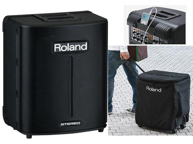 【専用キャリングケースセット】Roland(ローランド) / BA-330 -  乾電池対応オール・イン・ワンPAシステム -