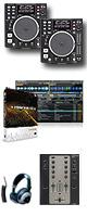 """DN-S1200 / M.203 / TRAKTOR PRO 2  ■限定セット内容■→ 【・DJ用カールコードヘッドホン ・教則DVD ・エレクトロハウス音ネタ ・セッティングマニュアル ・金メッキ高級接続ケーブル 3M 1ペア ・OAタップ ・ミックスCD作成KIT ・USBメモリ2個 ・DJ必需CD 計""""5枚""""】"""