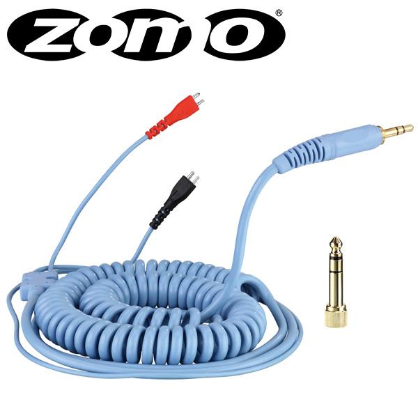 Zomo(ゾモ) / Spiral Cord DeLuxe for Sennheiser HD 25 (Sky Blue / 3.5m) 交換用カールコード・ケーブル