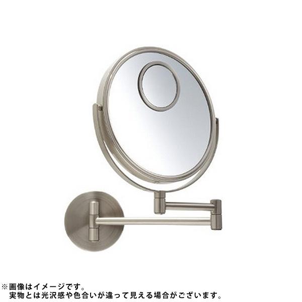 Jerdon(ジェルドン) / JP7510N (ニッケル) 《拡大鏡》 [鏡面 直径20cm] 【10倍率/等倍率/15倍率スポット鏡】 -壁面取付型ミラー-