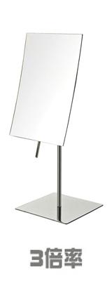 Jerdon(ジェルドン) / JP358C (クローム / ステンレススチール) 《拡大鏡》 [鏡面 20cm x 13cm] 【3倍率】 卓上型テーブルミラー