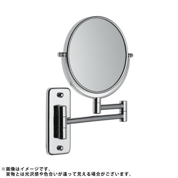 Jerdon(ジェルドン) / JP7508C (クローム) 《拡大鏡》 [鏡面 直径15cm] 【5倍率/等倍率】 -壁面取付型ミラー-