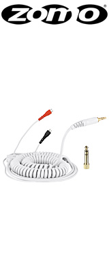 Zomo(ゾモ) / Spiral Cable DeLuxe for Sennheiser HD 25 (White / 3.5m) 交換用カールコード・ケーブル