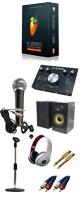 【DTM初心者レコーディングセットB】 FL STUDIO 12 SIGNATURE BUNDLE /M-TRACK 2x2M / PGM-58 セット 5大特典セット