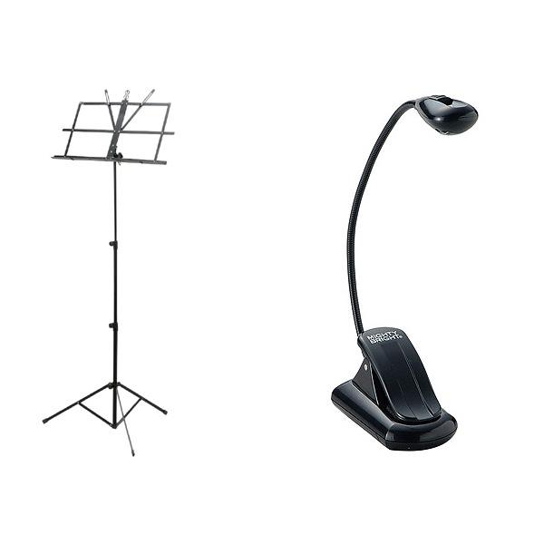 譜面台(MS-200J/BK) & 譜面ライト(Xtra Flex) 【セット】