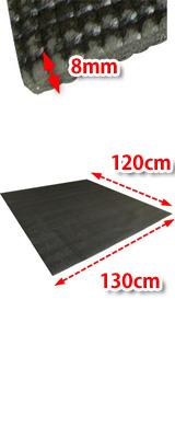 低反発 エクササイズマット (FDM-01) 厚さ:8mm 【筋トレ・ヨガ・ダンス・エクササイズ に最適!防音効果・柔らかくてゆったりサイズ】【サイズ:約130cm x 120cm x 0.8cm】