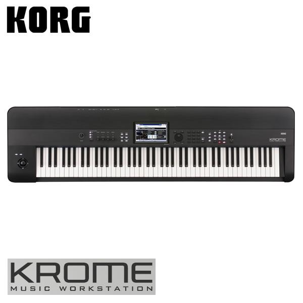 【限定1点】Korg(コルグ) / KROME-88 (88鍵盤) - ミュージック・ワークステーション・シンセサイザー 【アウトレット品/メーカー保証付】