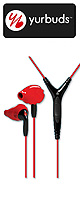 yurbuds(ヤーバッズ) / Ironman Inspire PRO (Red/Black) (3-Button Control and Mic) - スポーツタイプイヤホン -