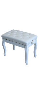 Euro Style(ユーロスタイル) / 猫足ピアノベンチ 【ホワイト】【キズ・汚れ有り / アウトレット品】 - 高さ調節可能キーボードベンチ -