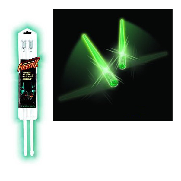 Firestix(ファイアースティックス) / 【光る!!】 ドラムスティック GMFX12GR 《Scramming Green》 - グリーン - 【パリピグッズ】
