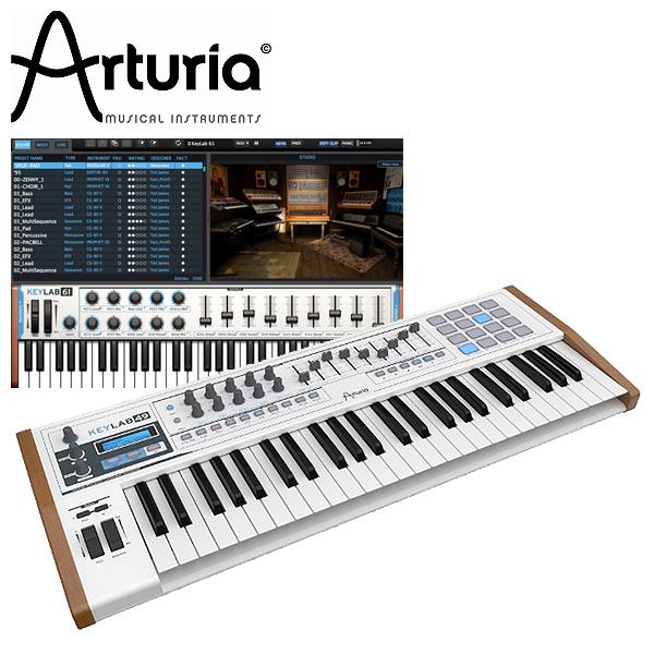 Arturia(アートリア) / KEYLAB 49 【ソフトシンセ ANALOG LAB付属】 - 49鍵MIDIキーボード -