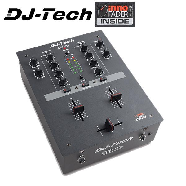 DJ-Tech (ディージェーテック) / DIF-1S - 非接触型クロスフェーダー搭載 [2チャンネルスクラッチミキサー] -