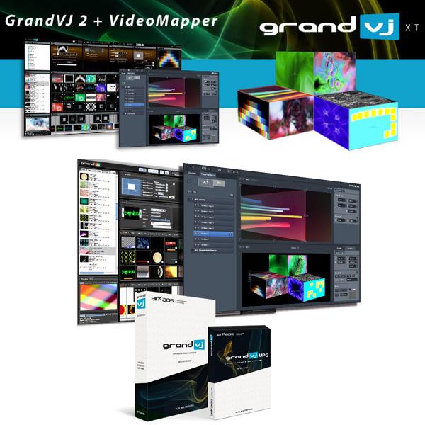 ArKaos(アルカオス) / Grand VJ 2 XT(Grand VJ 2 + VideoMapperバンドル)プロジェクションマッピング対応