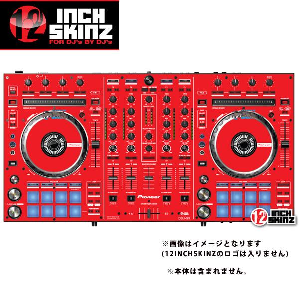 12inch SKINZ / Pioneer DDJ-SX SKINZ (RED) 【DDJ-SX用スキン】