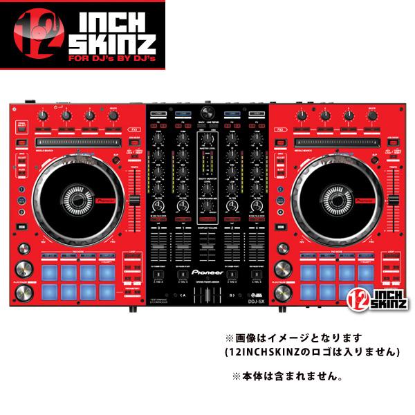 12inch SKINZ / Pioneer DDJ-SX SKINZ (RED/BLACK) 【DDJ-SX用スキン】