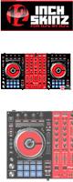 12inch SKINZ / Pioneer DDJ-SX SKINZ (BLACK/RED) 【DDJ-SX用スキン】