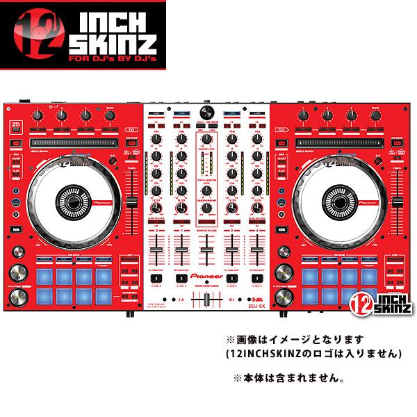12inch SKINZ / Pioneer DDJ-SX SKINZ(RED/WHITE) - 【DDJ-SX用スキン】