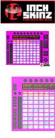 【限定2枚】12inch SKINZ / Ableton PUSH SKINZ - (NEON PINK) - 【PUSH用スキン】『セール』『DJ機材』