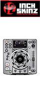 【限定1セット】12inch SKINZ / DENON DN-S1200 SKINZ (SILVER) - 2枚1セット - 【DN-S1200用スキン】『セール』『DJ機材』