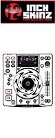 【限定2セット】12inch SKINZ / DENON DN-S1200 SKINZ (WHITE) - 2枚1セット - 【DN-S1200用スキン】『セール』『DJ機材』