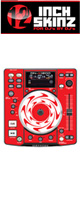 12inch SKINZ / DENON DN-S1200 SKINZ (RED) - 2枚1セット - 【DN-S1200用スキン】