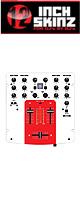 【限定2枚】12inch SKINZ / DENON DN-X120 SKINZ (WHITE/RED) - 【DN-X120用スキン】『セール』『DJ機材』