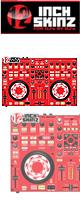 【限定2枚】12inch SKINZ / DENON MC-3000 SKINZ (RED) 【MC-3000用スキン】『セール』『DJ機材』
