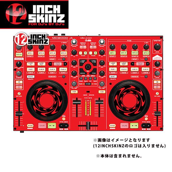 【限定1枚】12inch SKINZ / DENON MC-3000 SKINZ (RED/BLACK) 【MC-3000用スキン】『セール』『DJ機材』