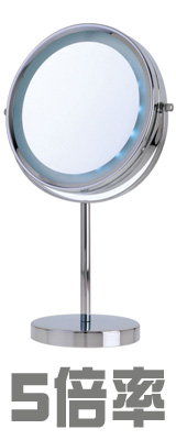 Danielle(ダニエル) / D126 《LEDライト付拡大鏡》 [鏡面 20cm] 【5倍率/等倍率】 卓上型テーブルミラー