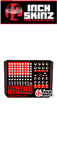 12inch SKINZ / Akai APC40 Skinz (Black/Red) 【APC40 用スキン】