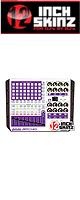 12inch SKINZ / Akai APC40 Skinz (White/Purple) 【APC40 用スキン】