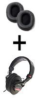 Sony(ソニー) / MDR-V6 + 交換用イヤーパッド(2個)セット - モニターヘッドホン - ■限定セット内容■→ 【・最上級エージング・ツール 】