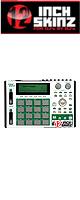 12inch SKINZ / Akai MPC1000 Skinz (White/Green) 【Akai / MPC1000 用スキン】
