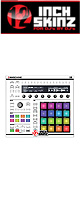 12inch SKINZ / Native Instruments Maschine MK2 Skinz (White/Black) 【Maschine MK2 用スキン】