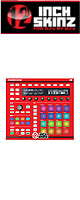 12inch SKINZ / Native Instruments Maschine MK2 Skinz (RED) 【Maschine MK2 用スキン】