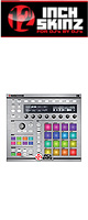 12inch SKINZ / Native Instruments Maschine MK2 Skinz Metallics (Brushed Silver) 【Maschine MK2 用スキン】