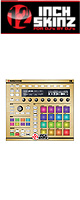 12inch SKINZ / Native Instruments Maschine MK2 Skinz Metallics (Brushed Gold) 【Maschine MK2 用スキン】