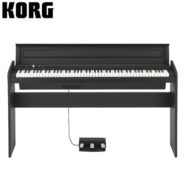 Korg(コルグ) / LP-180-BK (ブラック) - デジタルピアノ - 【専用スタンド + 3本ペダル 付属】