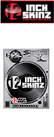 12inch SKINZ / Reloop RP-8000 Magnetic Skinz (Brushed Silver) ペア 【RP-8000用マグネットタイプスキン】