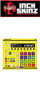 12inch SKINZ / Native Instruments Maschine MK2 Skinz (NEON YELLOW) 【Maschine MK2 用スキン】