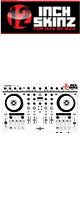 12inch SKINZ / Native Instruments Kontrol S4 MK2 Skinz (White/Gray) 【Kontrol S4 MK2 用スキン】