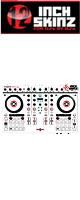 12inch SKINZ / Native Instruments Kontrol S4 MK2 Skinz (White/Black) 【Kontrol S4 MK2 用スキン】