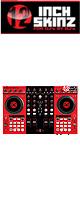 12inch SKINZ / Native Instruments Kontrol S4 MK2 Skinz (Red/Black) 【Kontrol S4 MK2 用スキン】