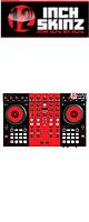 12inch SKINZ / Native Instruments Kontrol S4 MK2 Skinz (Black/Red) 【Kontrol S4 MK2 用スキン】