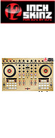 12inch SKINZ / Native Instruments Kontrol S4 MK2 Skinz Metallics (Brushed Gold) 【Kontrol S4 MK2 用スキン】