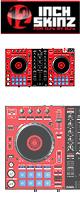 ■ご予約受付■ 12inch SKINZ / Pioneer DDJ-SR SKINZ (Red/Black) 【DDJ-SR用スキン】