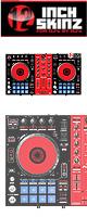 ■ご予約受付■ 12inch SKINZ / Pioneer DDJ-SR SKINZ (Black/Red) 【DDJ-SR用スキン】