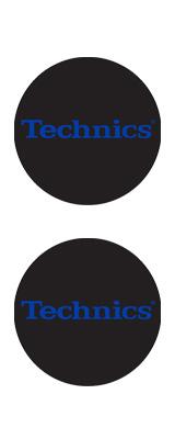 Technics(テクニクス) / Slipmats (Electric Blue) - スリップマット (2枚/1ペア) -