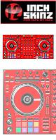 12inch SKINZ / Pioneer DDJ-SZ SKINZ (RED) 【DDJ-SZ用スキン】